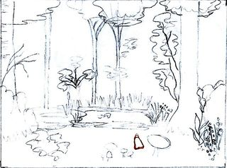 Enchanted Forest Sketch