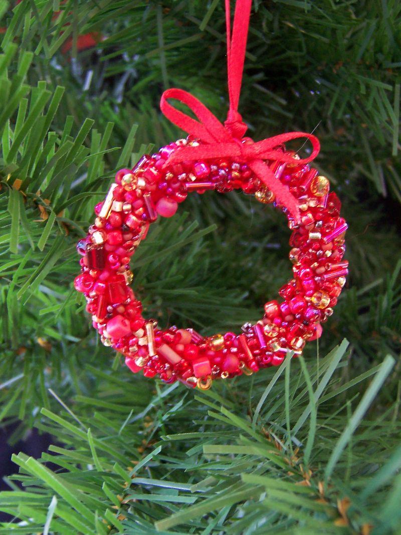 Bead Encrusted Christmas Wreath